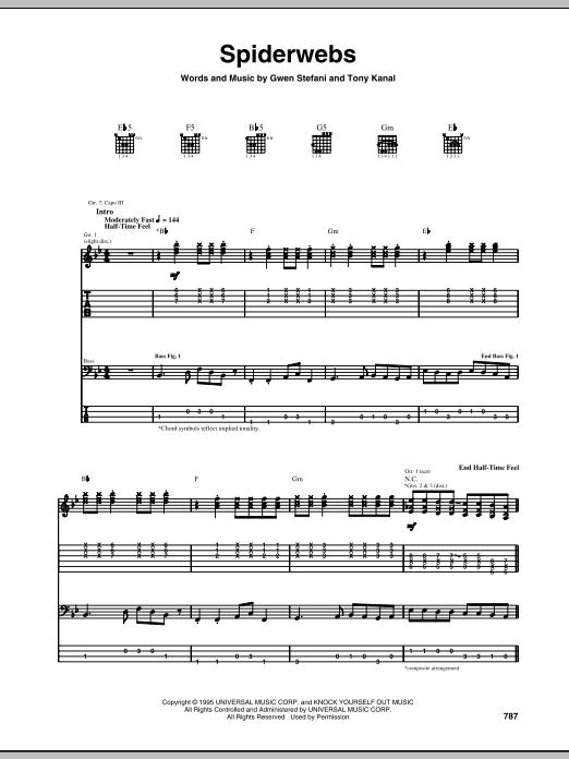 Spiderwebs Sheet Music