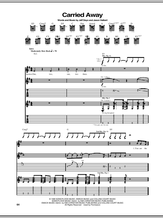 Carried Away Sheet Music