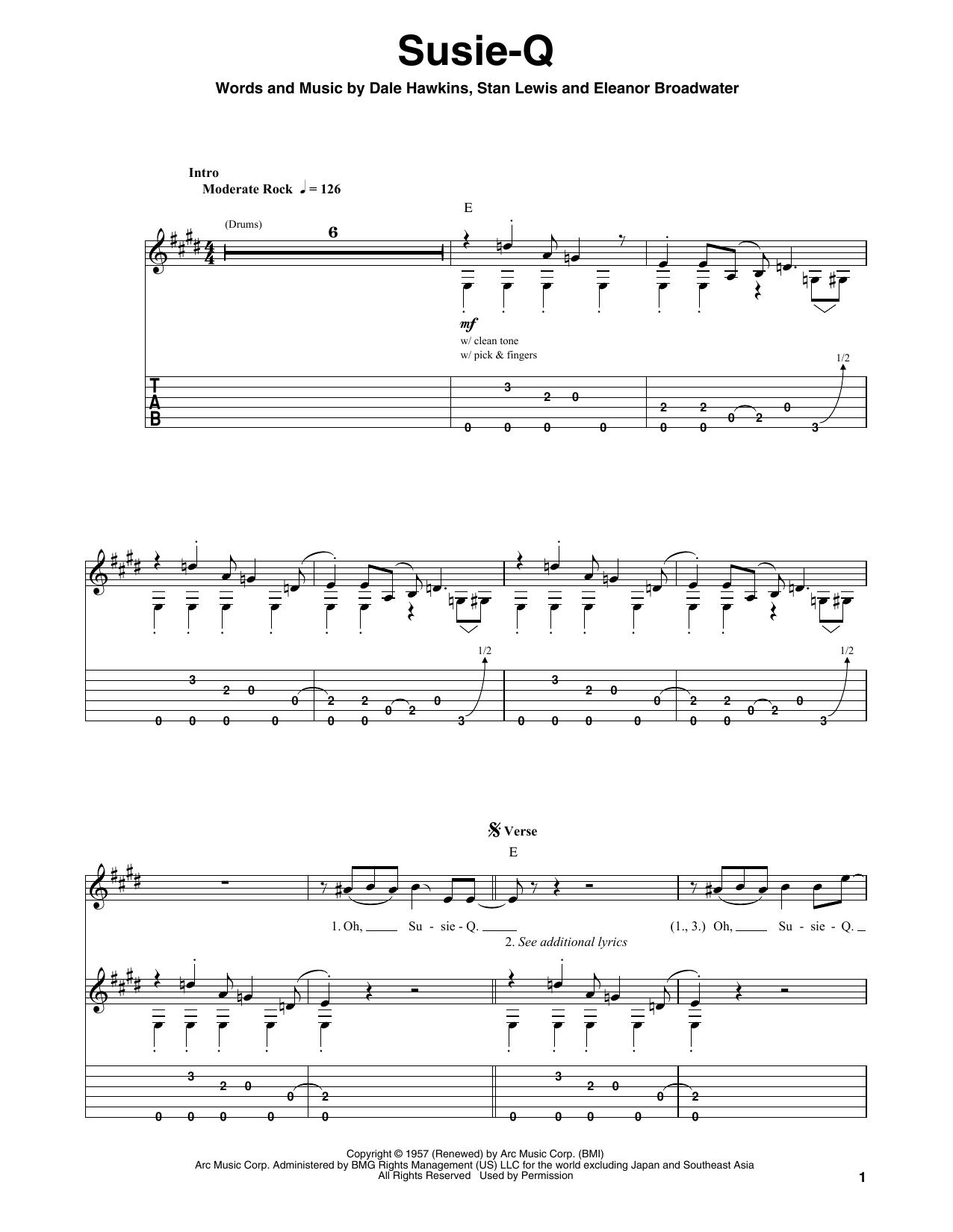 Susie-Q Sheet Music