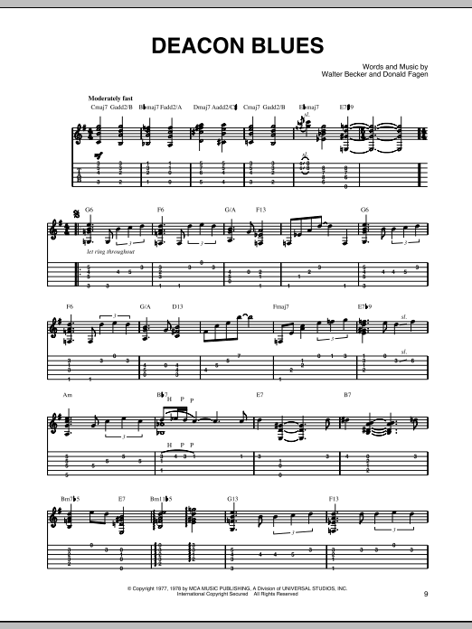 Deacon Blues Sheet Music