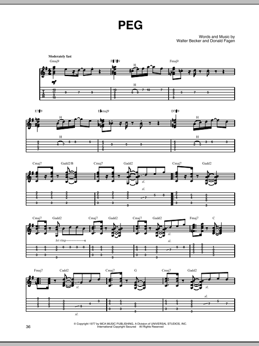 Peg Sheet Music