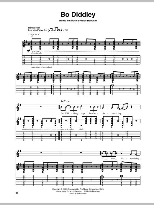Bo Diddley (Guitar Tab)