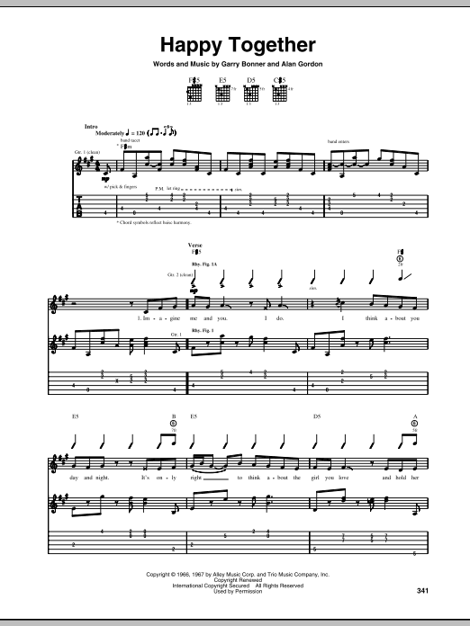 Happy Together (Guitar Tab)