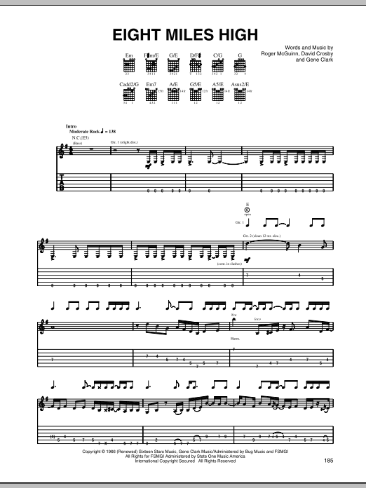 Eight Miles High Sheet Music