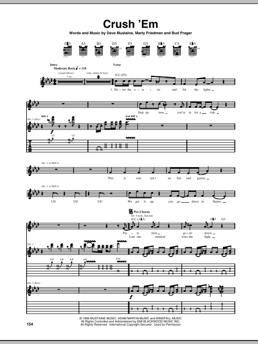 Crush 'Em Sheet Music