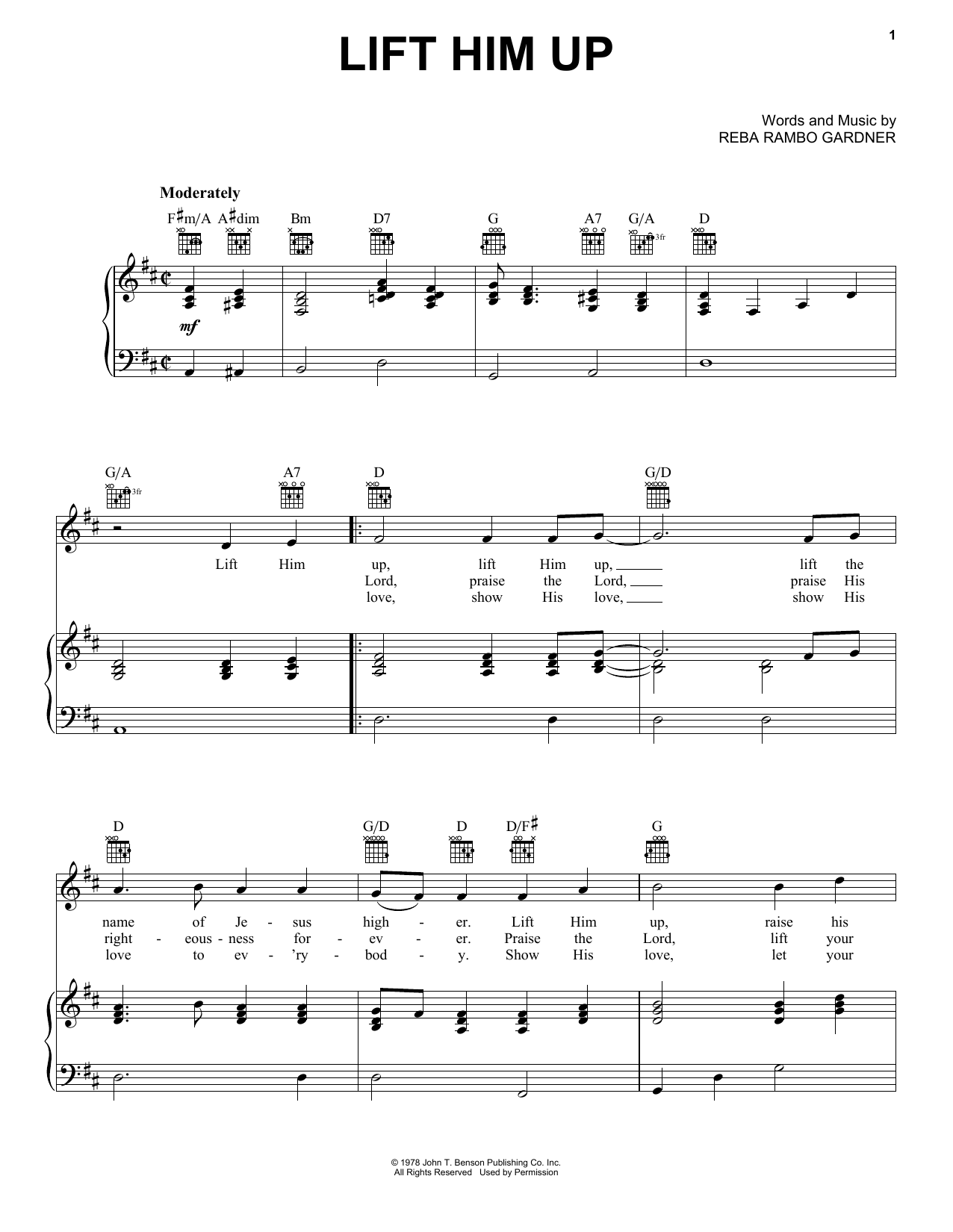 Lift Him Up Sheet Music