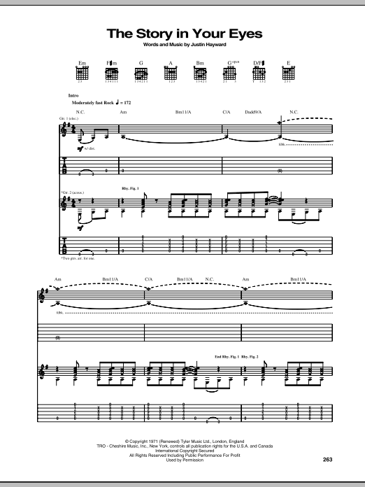 The Story In Your Eyes Sheet Music