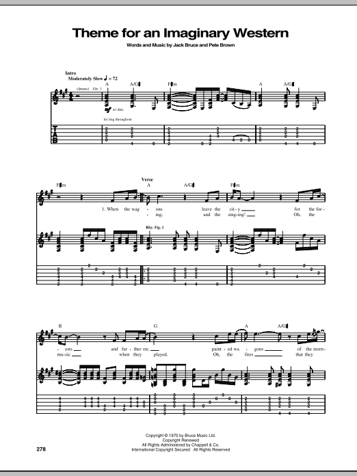 Theme For An Imaginary Western Sheet Music
