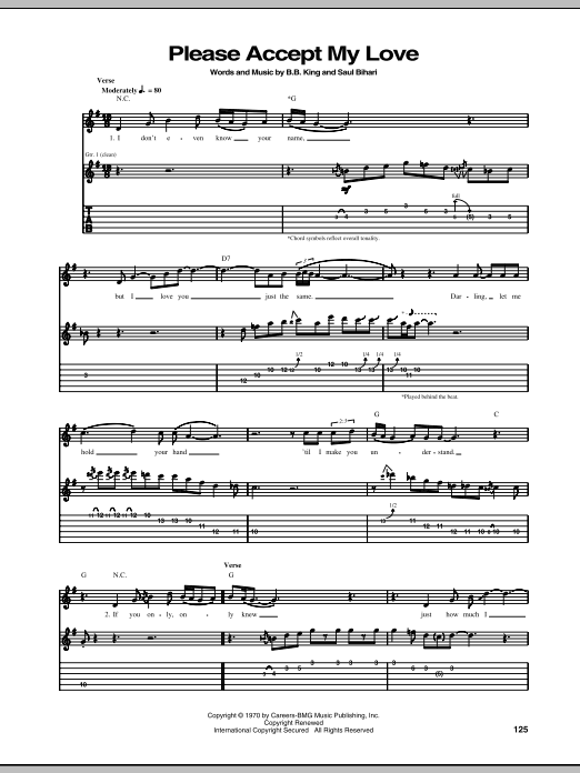 Please Accept My Love Sheet Music
