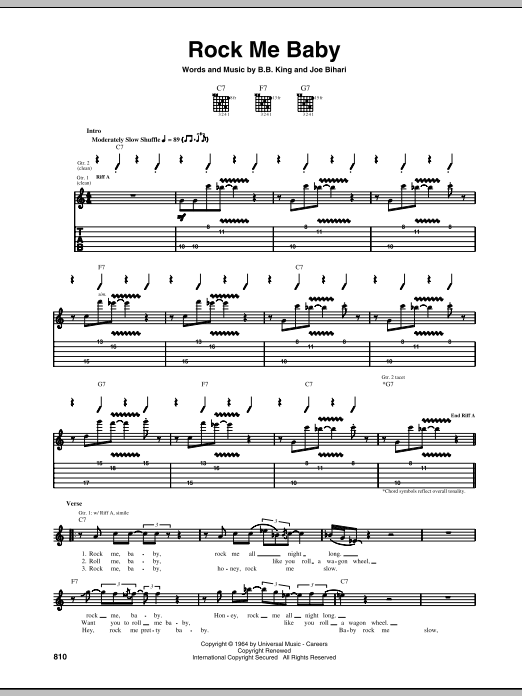 Rock Me Baby Sheet Music