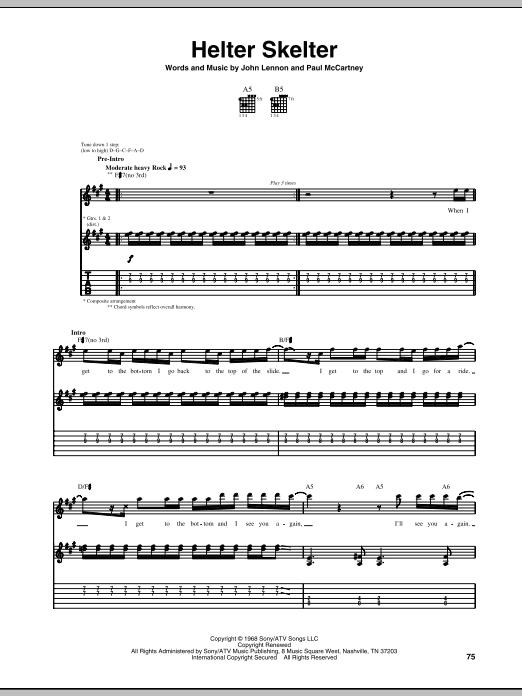 Helter Skelter (Guitar Tab)