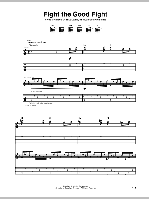 Fight The Good Fight Sheet Music