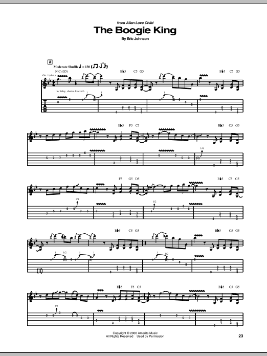 The Boogie King (Guitar Tab)
