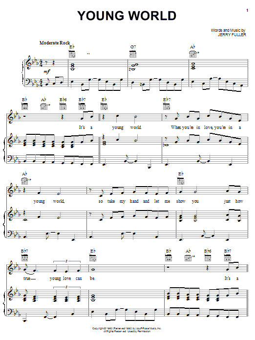 Young World (Piano, Vocal & Guitar (Right-Hand Melody))