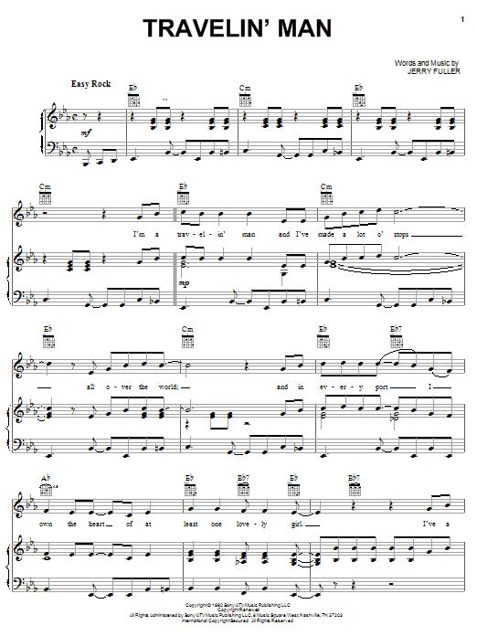 Travelin' Man (Piano, Vocal & Guitar (Right-Hand Melody))