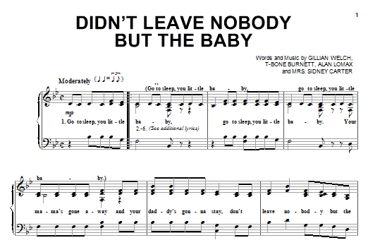 Didn't Leave Nobody But The Baby Sheet Music