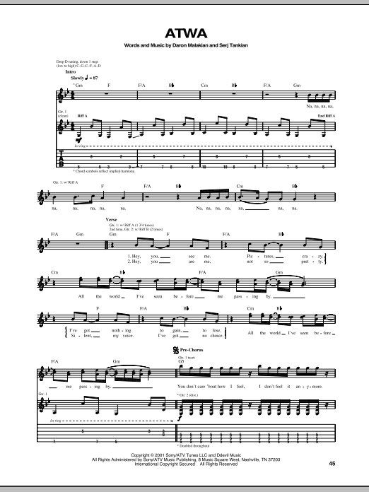 ATWA Sheet Music