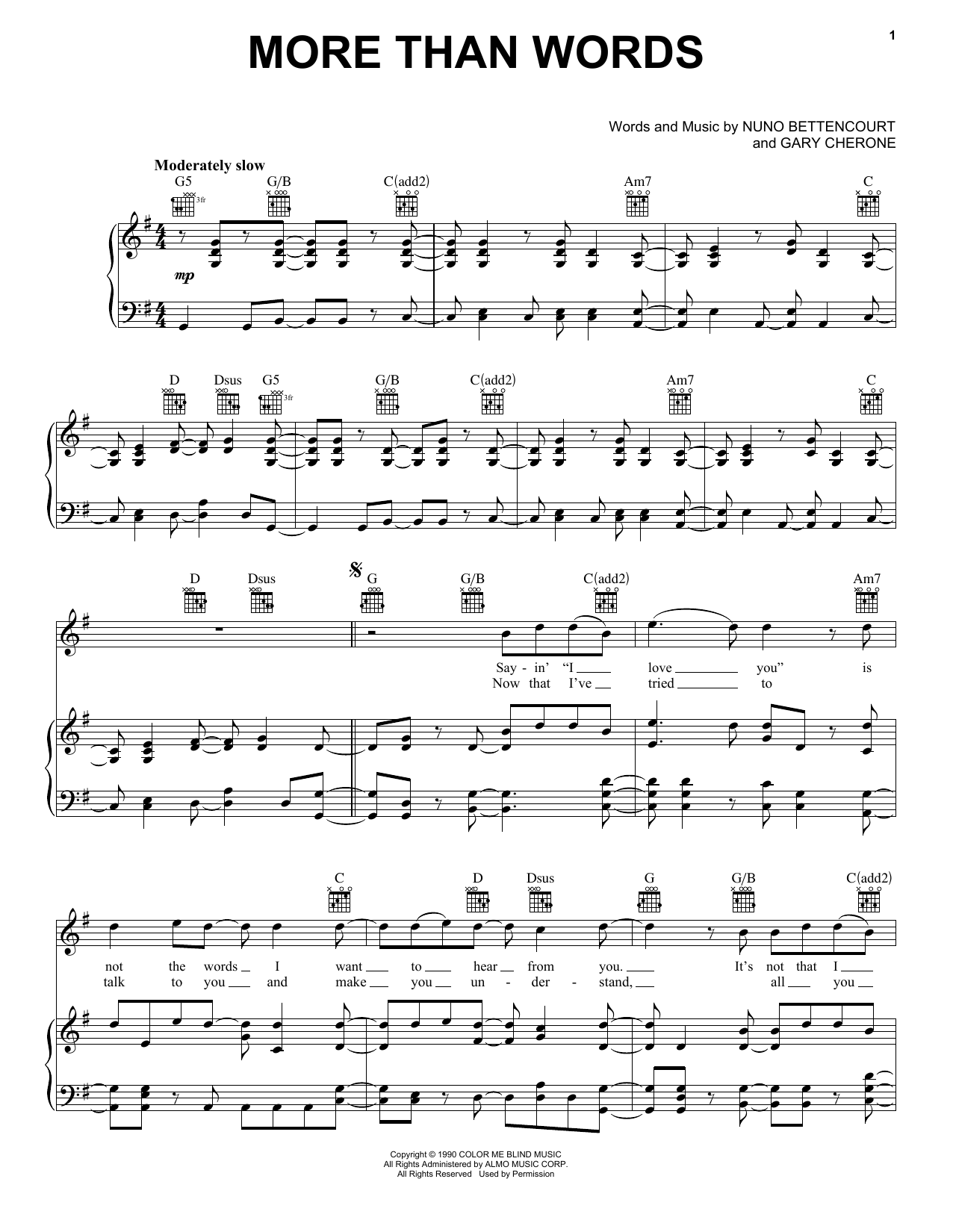 Guitar guitar tabs more than words : more than words chords piano