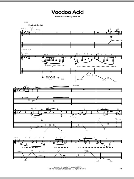Voodoo Acid Sheet Music