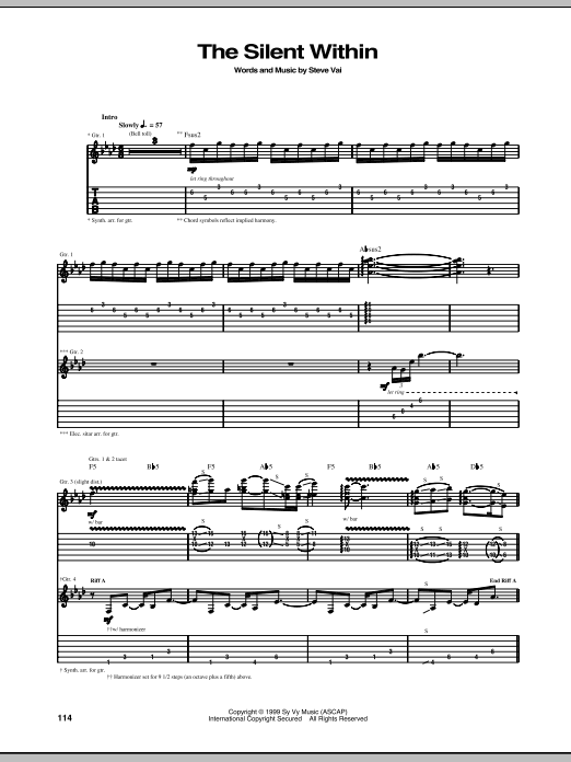 The Silent Within Sheet Music