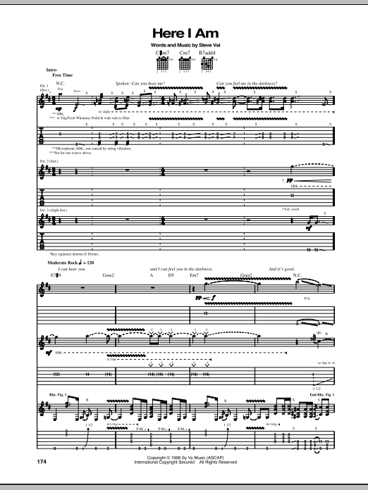 Here I Am (Guitar Tab)