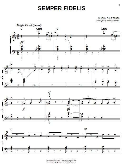 Semper Fidelis (Easy Piano)
