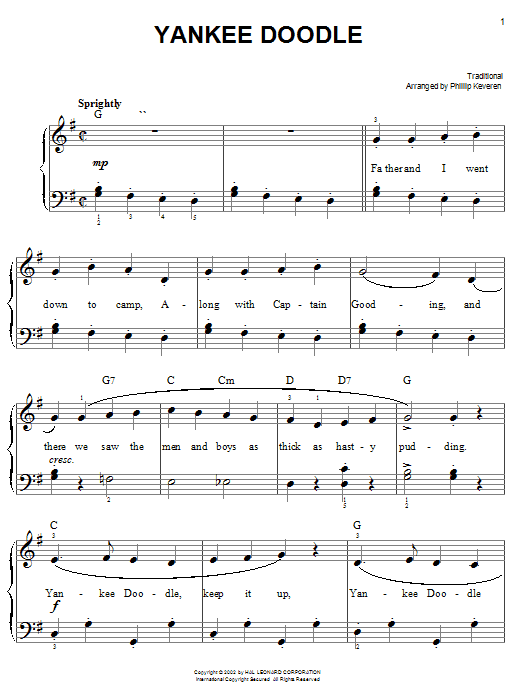 Yankee Doodle | Sheet Music Direct