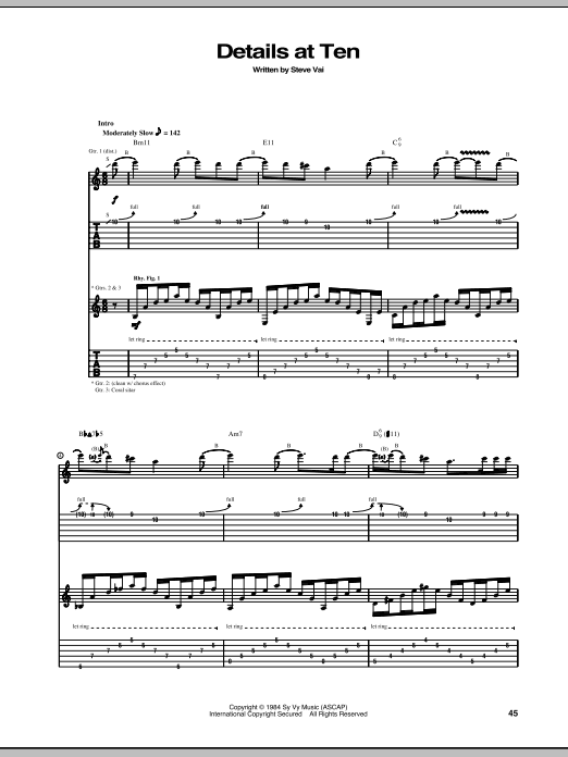 Details At Ten (Guitar Tab)