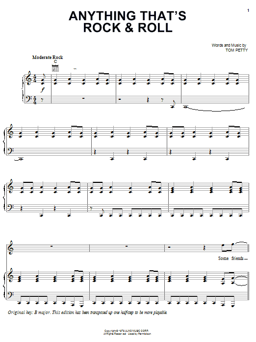 Anything That's Rock & Roll Sheet Music