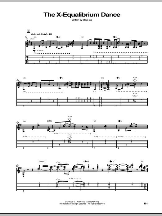 The X-Equalibrium Dance Sheet Music