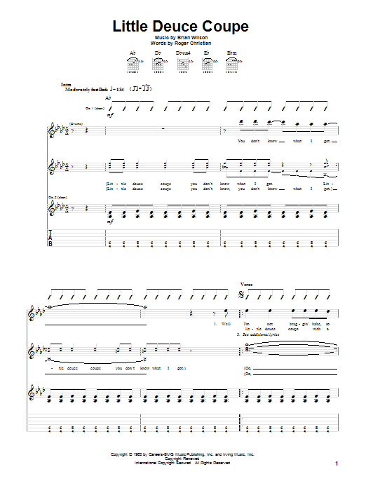 Little Deuce Coupe (Guitar Tab)
