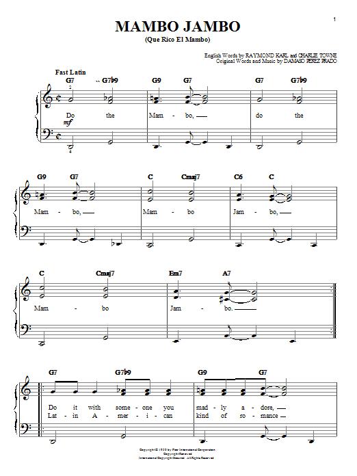 Mambo Jambo (Que Rico El Mambo) (Easy Piano)