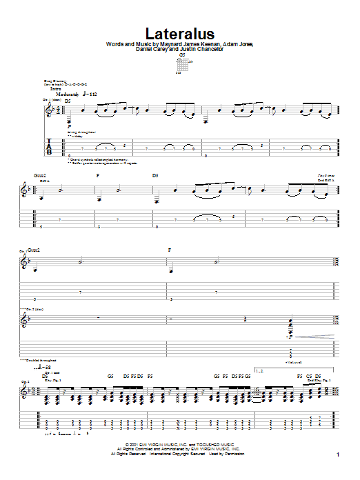 Lateralus Sheet Music