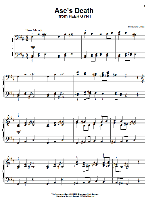 Ase's Death Sheet Music