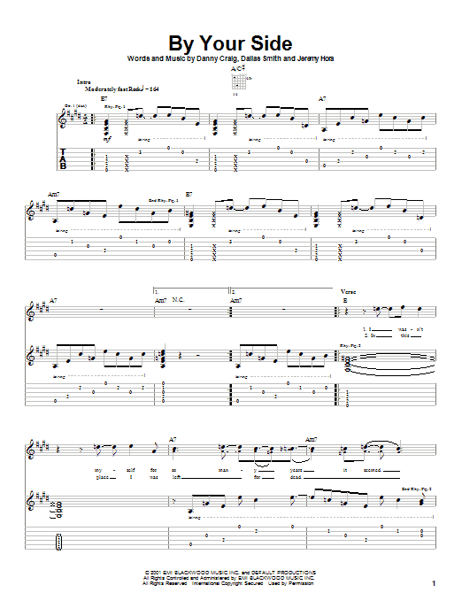 Tablature guitare By Your Side de Default - Tablature Guitare
