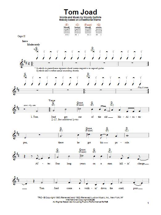 Tom Joad (Easy Guitar)