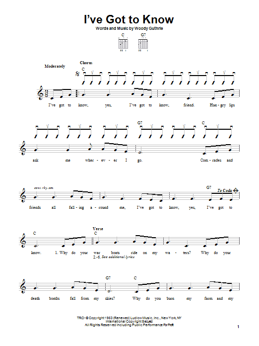 I've Got To Know (Easy Guitar)