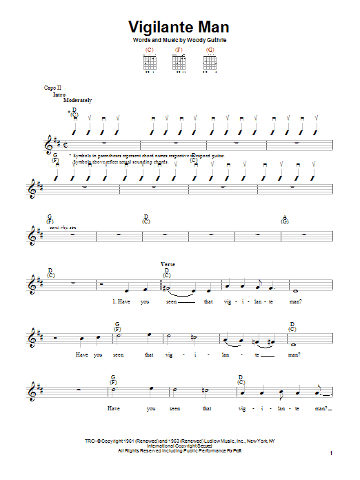 Vigilante Man Sheet Music