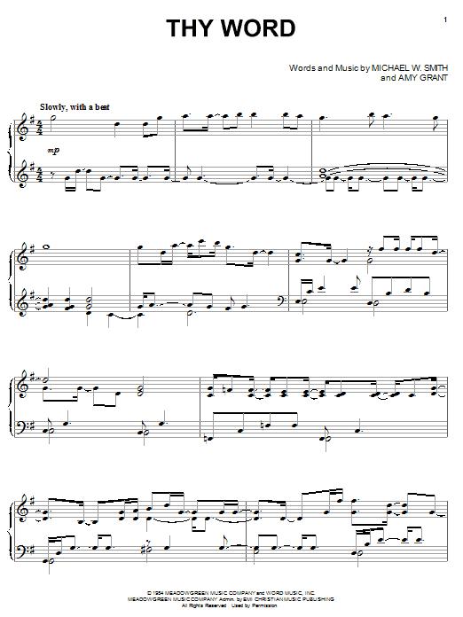 Thy Word (Piano Solo)