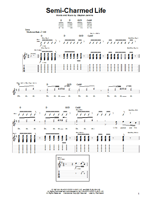 Semi-Charmed Life Sheet Music