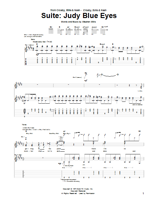 Suite: Judy Blue Eyes (Guitar Tab)