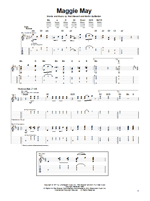 Maggie May (Guitar Tab)
