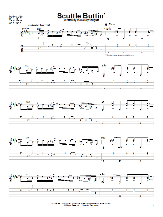 Scuttle Buttin' Sheet Music