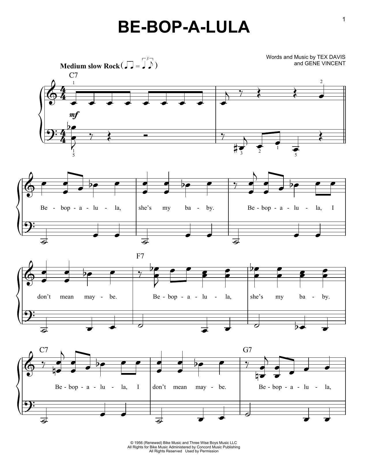 Be-Bop-A-Lula Sheet Music