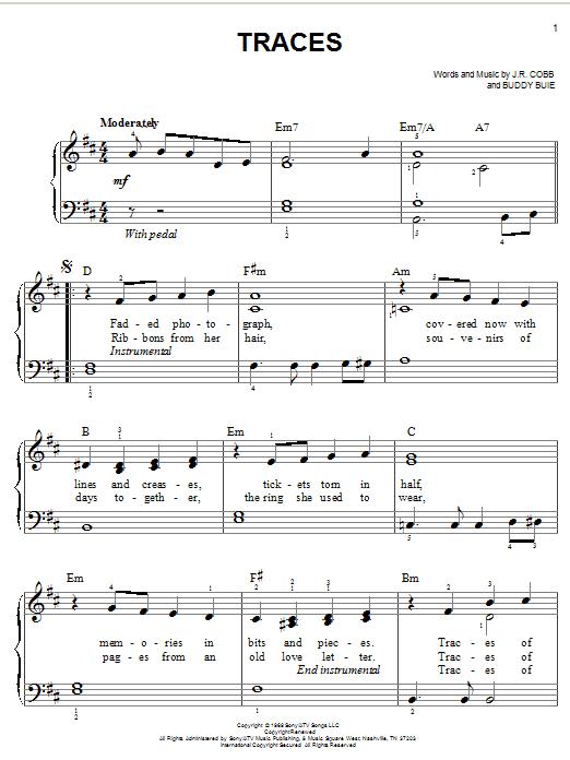 Traces (Easy Piano)