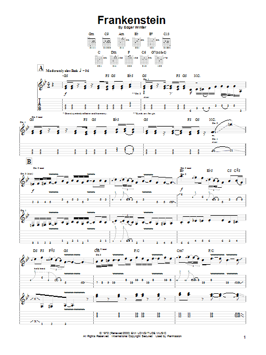 Frankenstein Sheet Music
