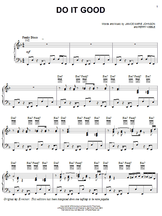 Do It Good (Piano, Vocal & Guitar (Right-Hand Melody))