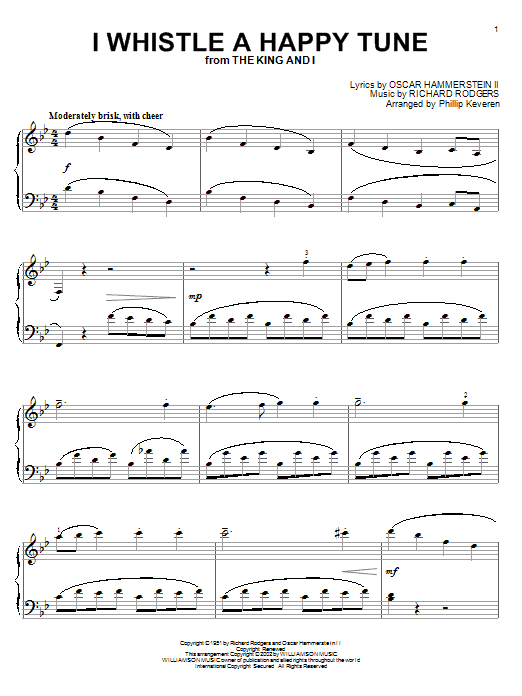 I Whistle A Happy Tune Sheet Music