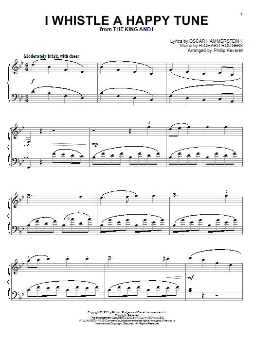 Partition piano I Whistle A Happy Tune de Rodgers & Hammerstein - Piano Solo