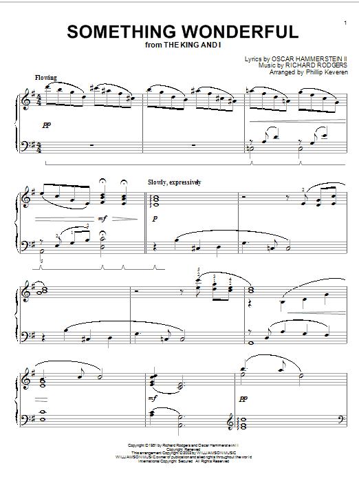 Something Wonderful Sheet Music